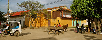 Relaxed lifestyle in Mompos 2, Colombia Royalty Free Stock Image