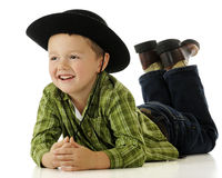 Relaxed Little Cowpoke Stock Photography