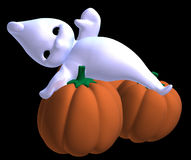 Relaxed little halloween ghost Royalty Free Stock Photo
