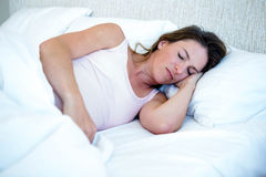 Relaxed looking woman deep asleep Royalty Free Stock Photo