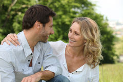 Relaxed loving couple Stock Photography