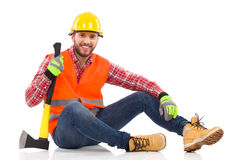 Relaxed Lumberjack Stock Images