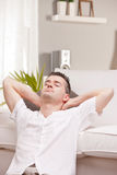 Relaxed man having finally his time off Royalty Free Stock Photos
