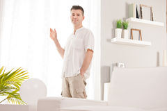 Relaxed man having finally his time off Royalty Free Stock Images