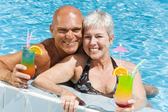 Relaxed mature couple Royalty Free Stock Image