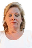 Relaxed mature woman royalty free stock image