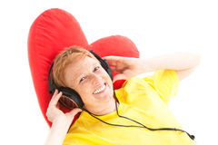 Relaxed music listenig Stock Photos