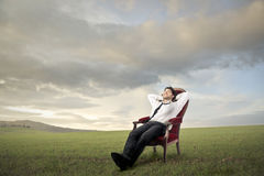 Relaxed outdoor royalty free stock photography