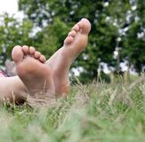 Relaxed at the park Royalty Free Stock Image