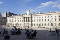 Relaxed people admiring square from London UK Stock Photos