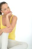 Relaxed Portrait of a Confident Young Woman Facing the Camera Royalty Free Stock Image
