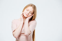 Relaxed pretty woman Royalty Free Stock Photo