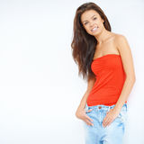 Relaxed pretty young woman Royalty Free Stock Image
