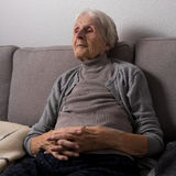 Relaxed in the retirement home Royalty Free Stock Photography
