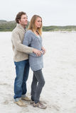Relaxed romantic young couple at beach Royalty Free Stock Images