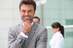 Relaxed and satisfied man Stock Photography