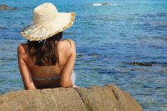 Relaxed by the sea Stock Photos
