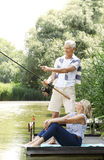 Relaxed senior couple Royalty Free Stock Images