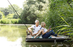 Relaxed senior couple Royalty Free Stock Photo