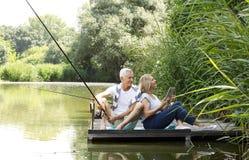 Relaxed senior couple Royalty Free Stock Photo