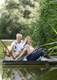 Relaxed senior couple Stock Photos