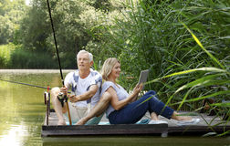 Relaxed senior couple Royalty Free Stock Photography
