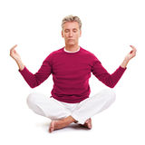 Relaxed senior man Royalty Free Stock Images