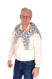 Relaxed senior man with sweater. Stock Photos