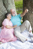Relaxed Seniors Birdwatching Stock Photos