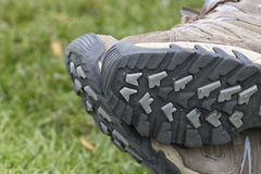 Relaxed Shoes on Grass Royalty Free Stock Photo