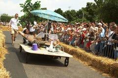 Relaxed soapbox racer Royalty Free Stock Photos