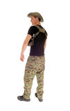 Relaxed soldier standing. Royalty Free Stock Image