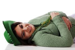 Relaxed on St. Patrick's Day Royalty Free Stock Photography