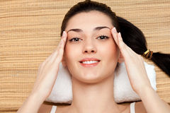 Relaxed taking spa treatment Royalty Free Stock Photo