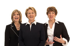 Relaxed Team of Business Women Royalty Free Stock Image