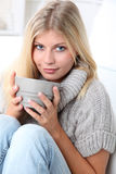 Relaxed time at home Stock Photography