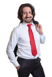 Relaxed turkish businessman with suit Royalty Free Stock Photo