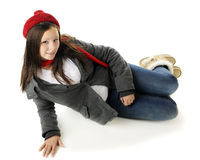 Relaxed Tween from Above Royalty Free Stock Photo
