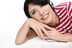 Relaxed woman royalty free stock image