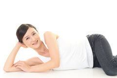 Relaxed woman Royalty Free Stock Photo