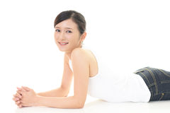 Relaxed woman Stock Images