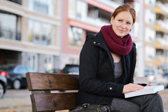 Relaxed Woman with a Book Stock Photo
