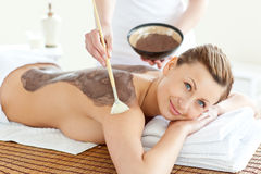 Relaxed woman enjoying a beauty treatment Stock Photography