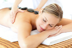Relaxed woman having a massage Stock Photography