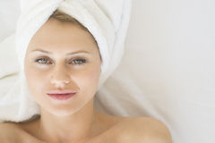 Relaxed Woman In Health Spa Stock Images