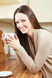 Relaxed woman in the morning Stock Photography