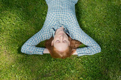 Relaxed Woman in a Park Stock Photography