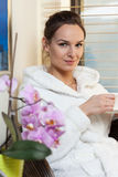 Relaxed woman in spa Royalty Free Stock Photo