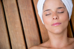 Relaxed woman at the spa Royalty Free Stock Photography