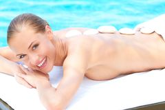 Relaxed woman taking spa treatment Royalty Free Stock Photography